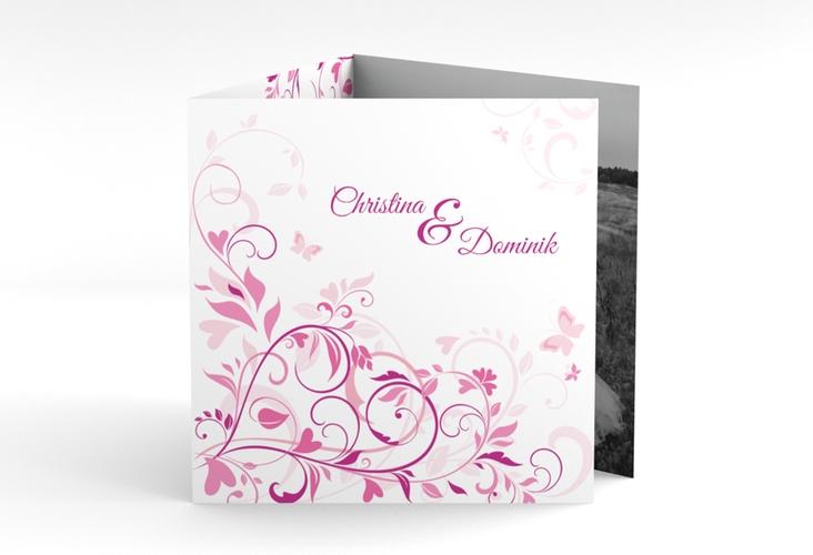 """Dankeskarte Hochzeit """"Lilly"""" Quadr. Karte doppelt"""