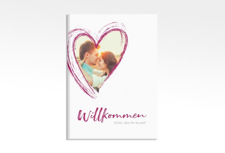 """Willkommensschild Leinwand """"Liebe"""" 50 x 70 cm Leinwand pink"""