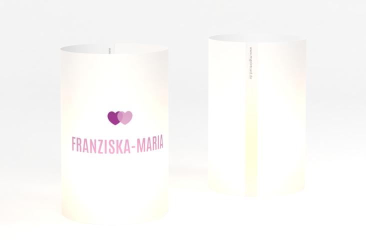 """Windlicht Hochzeit """"Couple"""" Windlicht lila"""