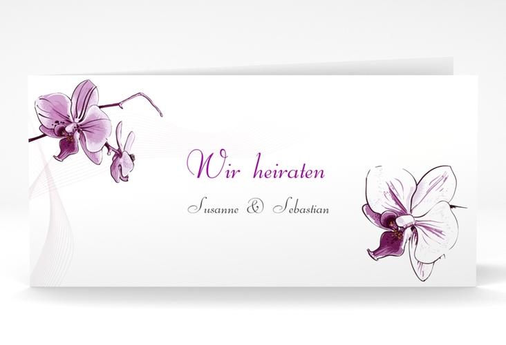 """Einladung Hochzeit """"Modena"""" DIN lang Klappkarte weiss"""