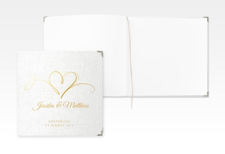 """Gästebuch Selection Hochzeit """"Envie"""" Leinen-Hardcover gold"""