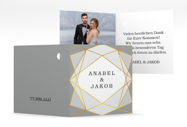"Geschenkanhänger Hochzeit ""Geometric"" Geschenkanhänger 10er Set grau"