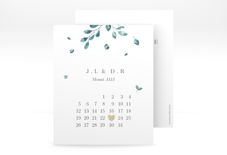 "Save the Date-Kalenderblatt ""Precioso"" Kalenderblatt-Karte"