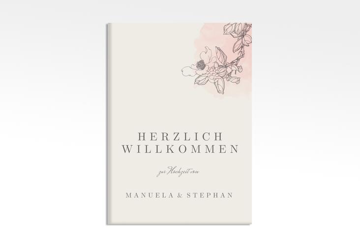 """Willkommensschild Hochzeit """"Artlover"""" 50 x 70 cm Leinwand rosa"""