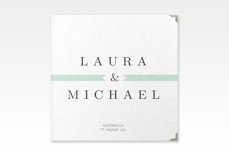"Gästebuch Selection Hochzeit ""Tender"" Leinen-Hardcover mint"