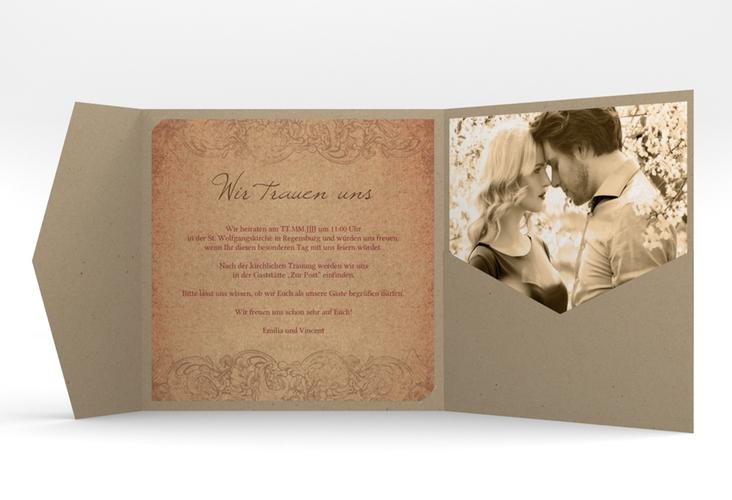 """Hochzeitseinladung """"Fairytale"""" Pocketfold"""