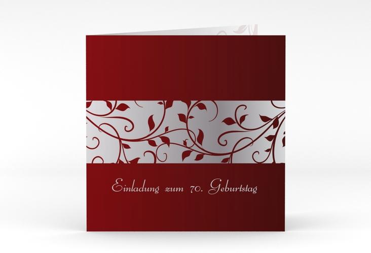 """Einladungskarte """"Hermann/Hermine"""" Quadratische Klappkarte rot"""