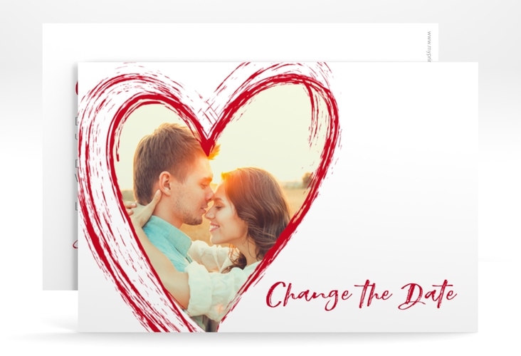 "Change the Date-Karte ""Liebe"" A6 quer"