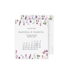 "Save the Date-Kalenderblatt ""Wildblumen"""