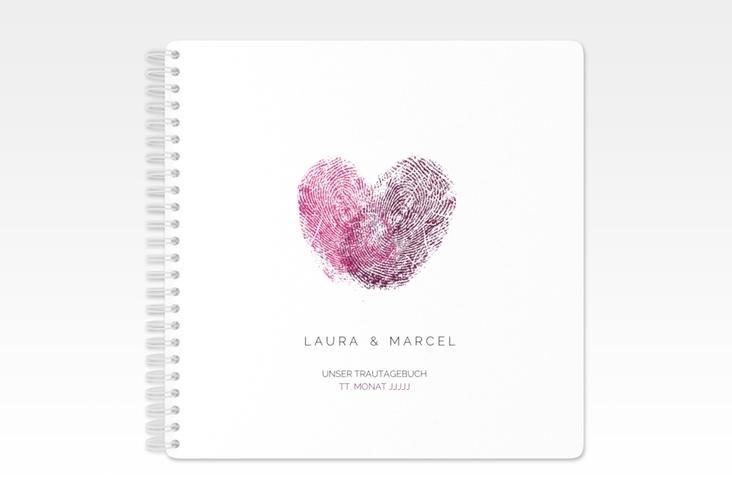 """Trautagebuch Hochzeit """"Fingerprint"""" Trautagebuch Hochzeit"""