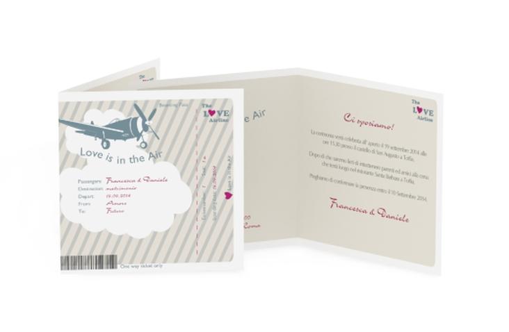 Inviti matrimonio collezione Teneriffa Quadratische Klappkarte