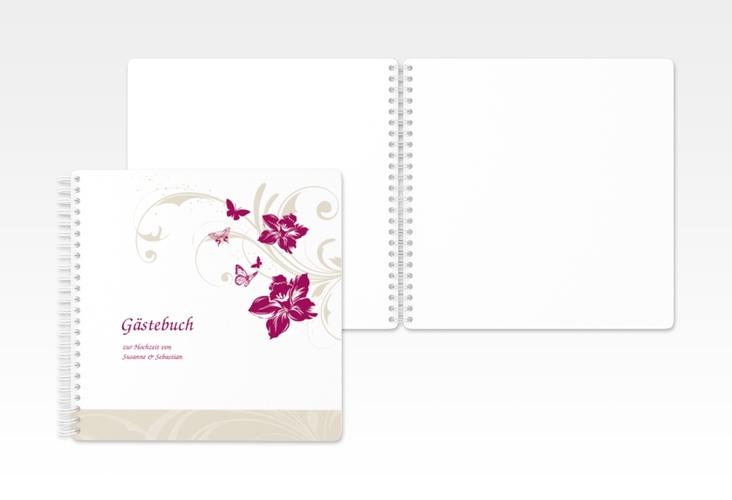 """Gästebuch zur Hochzeit """"Parma"""" Ringbindung"""
