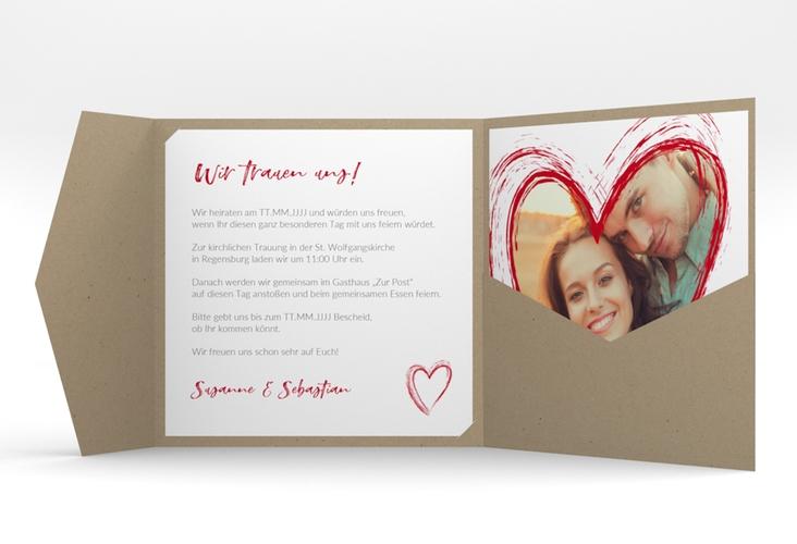 """Hochzeitseinladung """"Liebe"""" Pocketfold"""
