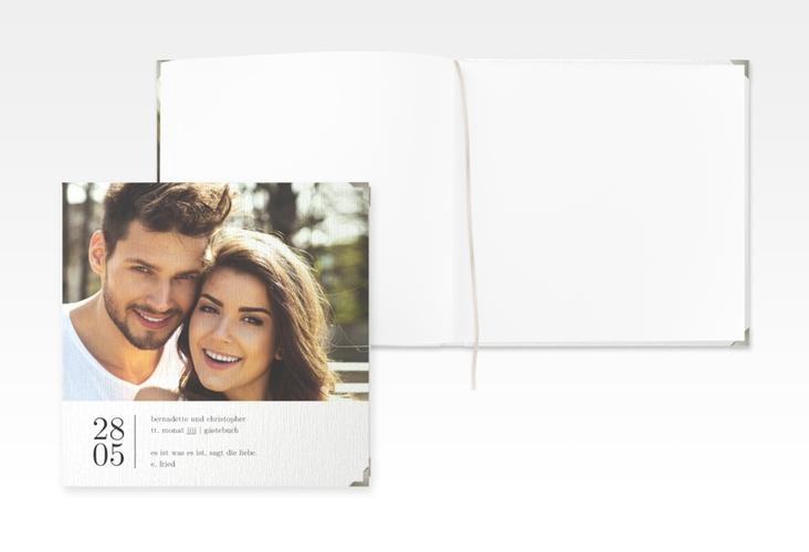 """Gästebuch Selection Hochzeit """"Minimal"""" Leinen-Hardcover weiss"""
