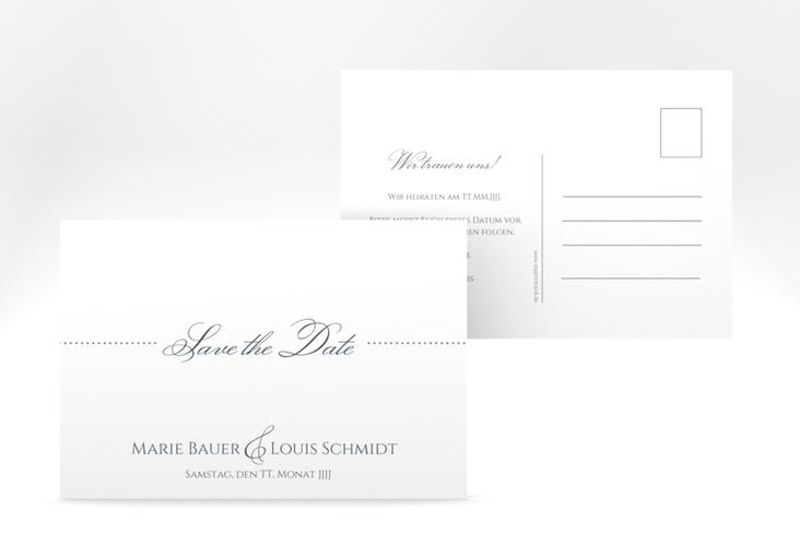 "Save the Date-Postkarte ""Pure"" A6 Postkarte grau"