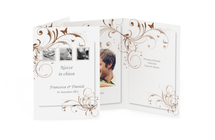 Libro messa matrimonio collezione Palma DIN A5 geklappt