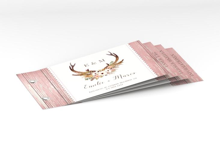 """Hochzeitseinladung """"Heimatjuwel"""" Booklet"""