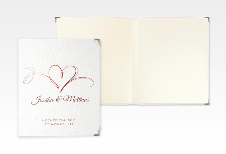 """Hochzeitsalbum """"Envie"""" 21 x 25 cm rot"""