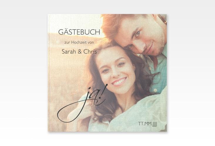 """Gästebuch Selection Hochzeit """"Clarity"""" Leinen-Hardcover schwarz"""