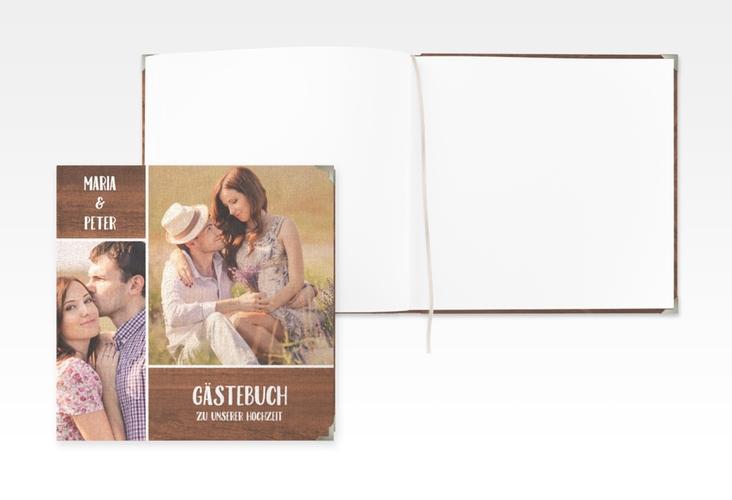 """Gästebuch Selection Hochzeit """"Landliebe"""" Leinen-Hardcover braun"""