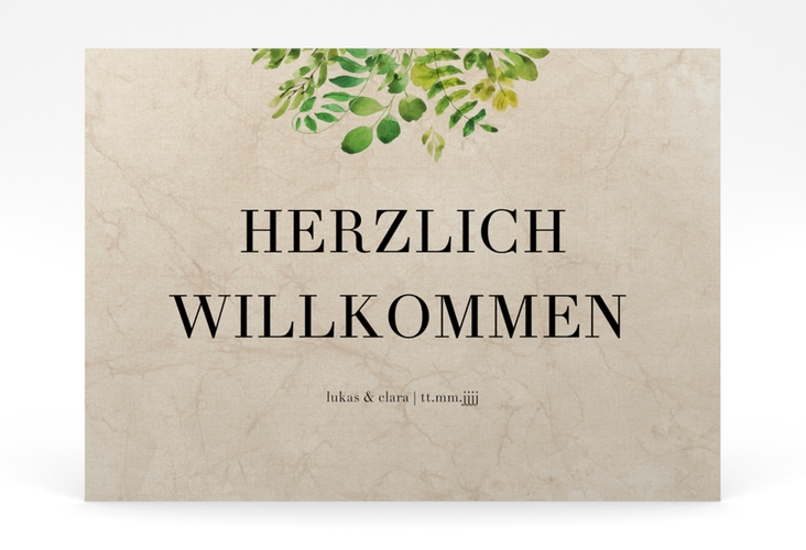 """Willkommensschild Poster """"Botany"""" 70 x 50 cm Poster beige"""