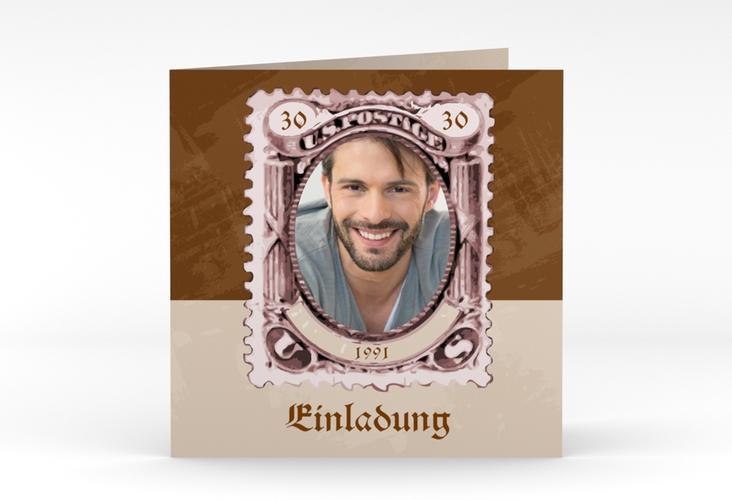 """Einladungskarte """"Ludwig"""" Quadratische Klappkarte"""
