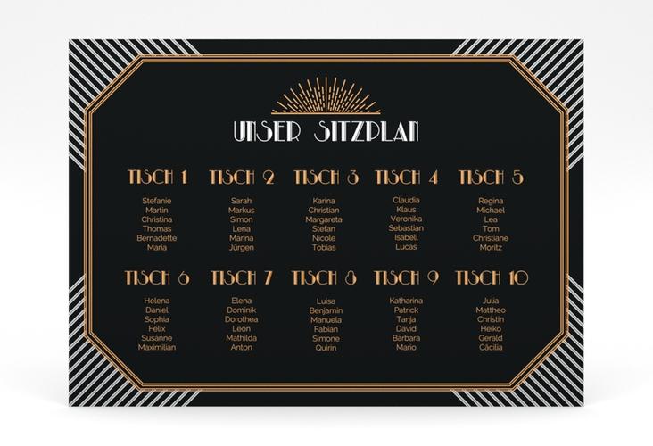 """Sitzplan Poster Hochzeit """"Gatsby"""" 70 x 50 cm Poster"""