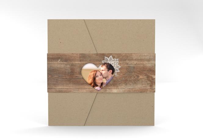 """Hochzeitseinladung """"Spitze"""" Pocketfold"""