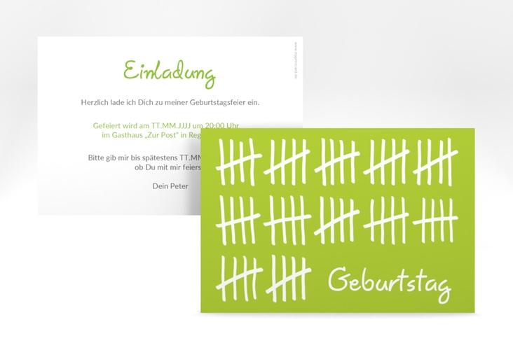 """Einladungskarte """"Strichliste"""" A6 quer"""
