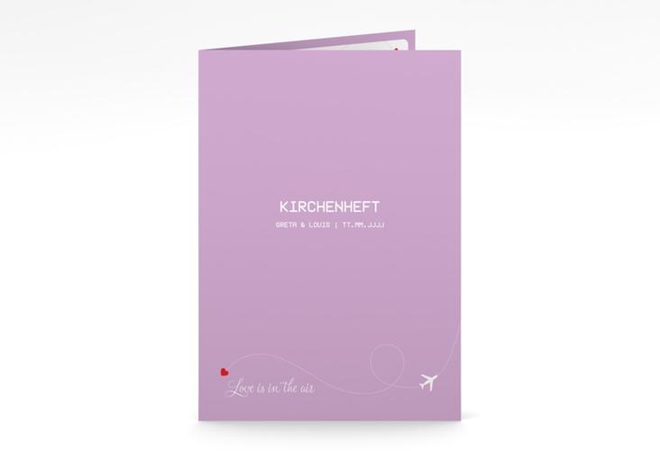 """Kirchenheft Hochzeit """"Weddingpass"""" DIN A5 geklappt flieder"""