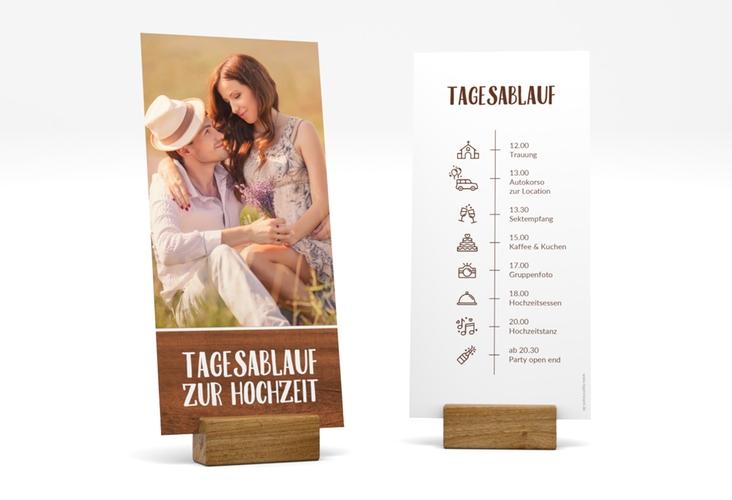 """Tagesablauf Hochzeit """"Landliebe"""" DIN lang hoch"""