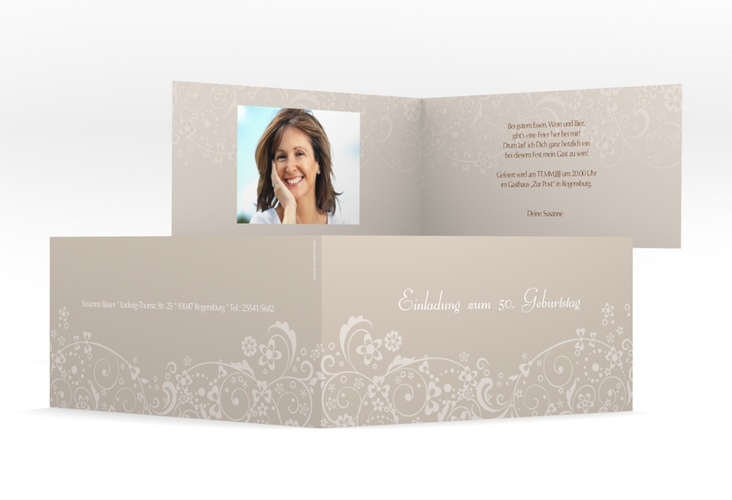 """Einladungskarte """"Magdalena"""" DIN lang Klappkarte"""