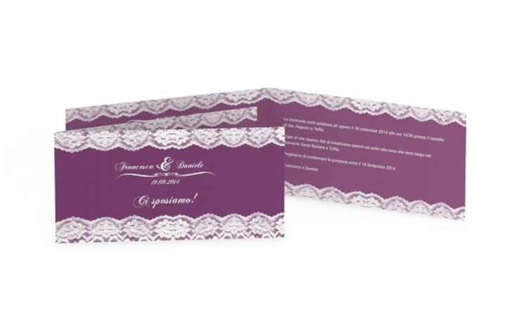 Inviti matrimonio collezione Montreux DIN lang Klappkarte