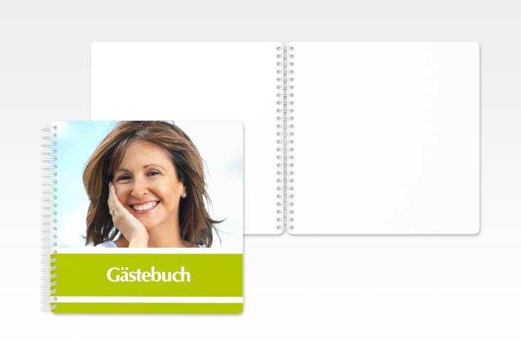 "Gästebuch Geburtstag ""Gerd/Gerda"" Ringbindung gruen"