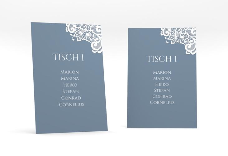 """Tischaufsteller Hochzeit """"Vintage"""" Tischaufsteller blau"""