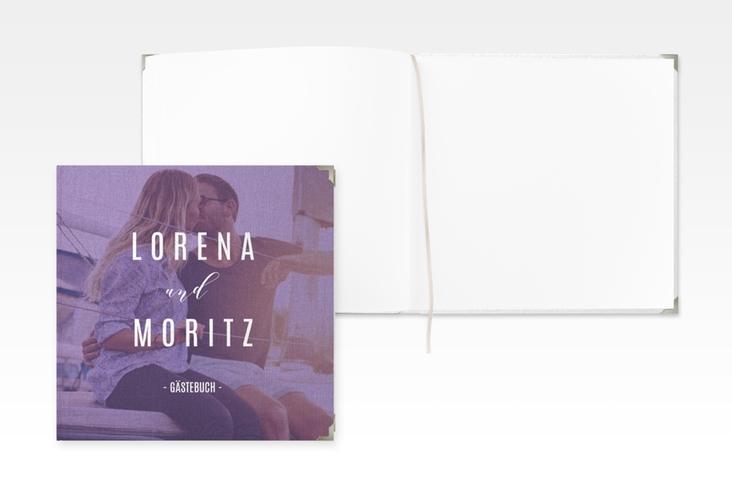 "Gästebuch Selection Hochzeit ""Memory"" Leinen-Hardcover lila"