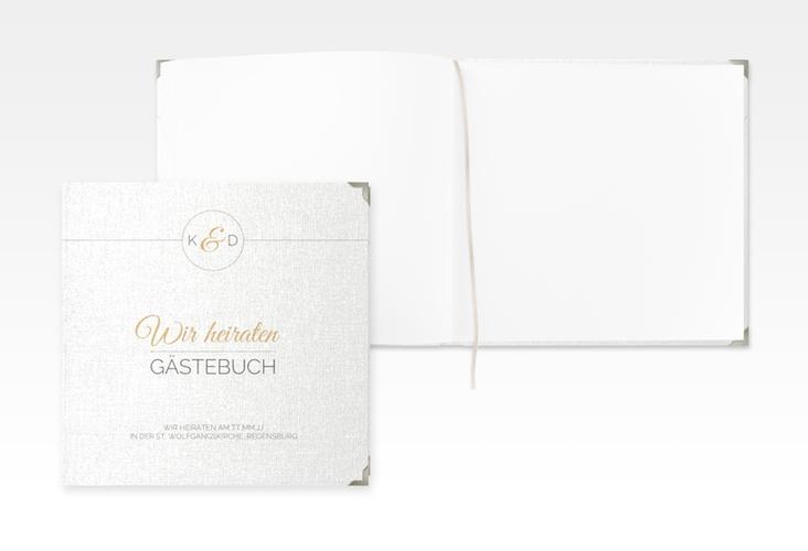 """Gästebuch Selection Hochzeit """"Unique"""" Leinen-Hardcover gold"""