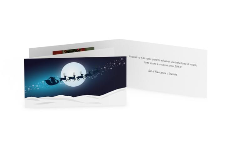Biglietti natalizi slitta DIN lang Klappkarte