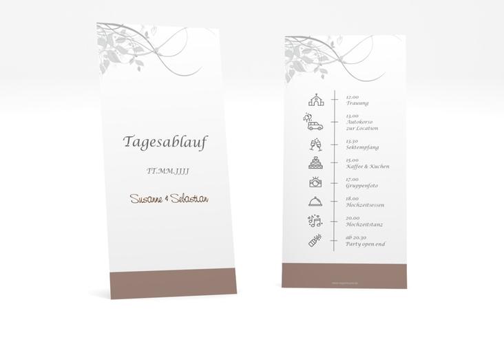 """Tagesablauf Hochzeit """"Florenz"""" DIN lang hoch braun"""