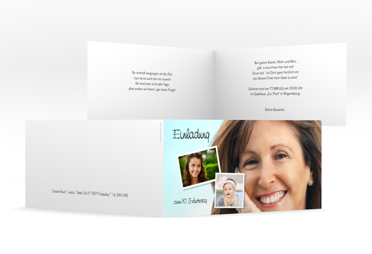 "Einladungskarte ""Friedolin/Frieda"" DIN lang Klappkarte"