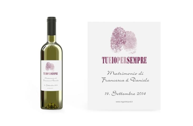 Etichette vino matrimonio collezione Messina Etikett Weinflasche 4er Set