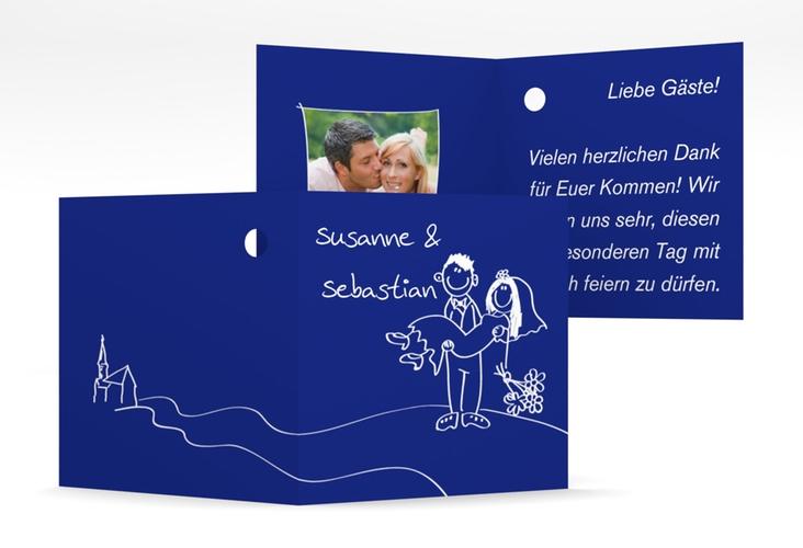 """Geschenkanhänger Hochzeit """"Pisa"""" Geschenkanhänger 10er Set blau"""