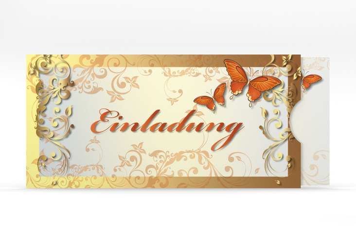 """Hochzeitseinladung """"Toulouse"""" Einsteckkarte orange"""