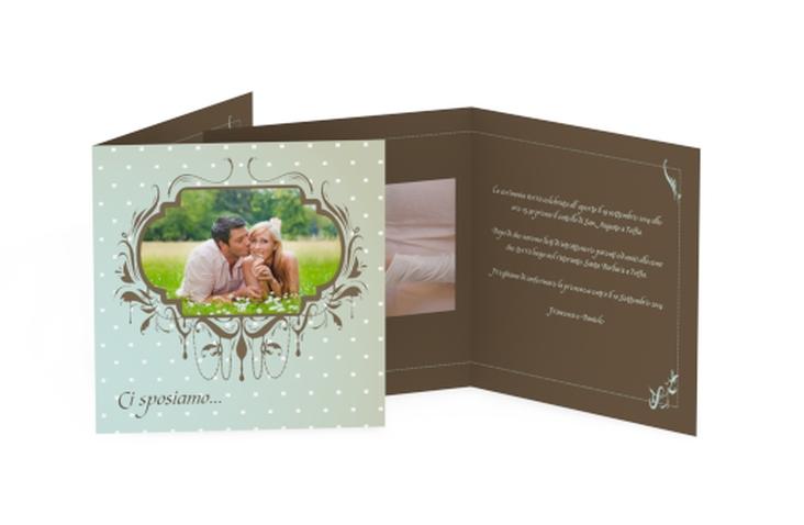 Inviti matrimonio collezione Ferrara Quadratische Klappkarte