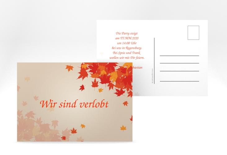 """Verlobungskarte Hochzeit """"Zwiesel"""" A6 Postkarte"""
