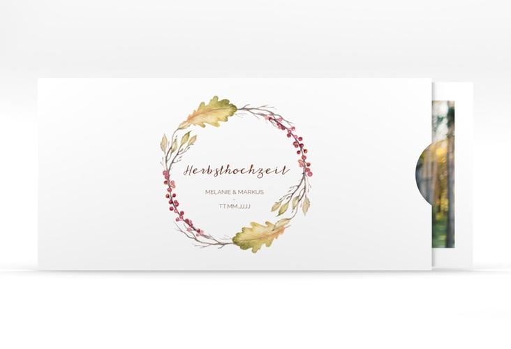 """Hochzeitseinladung """"Herbsthochzeit"""" Einsteckkarte"""