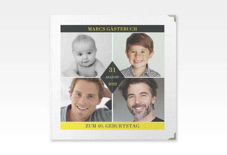 "Gästebuch Selection Geburtstag ""Rhombus"" Leinen-Hardcover"