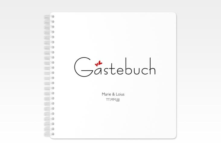 "Gästebuch Hochzeit ""Twohearts"" Ringbindung"