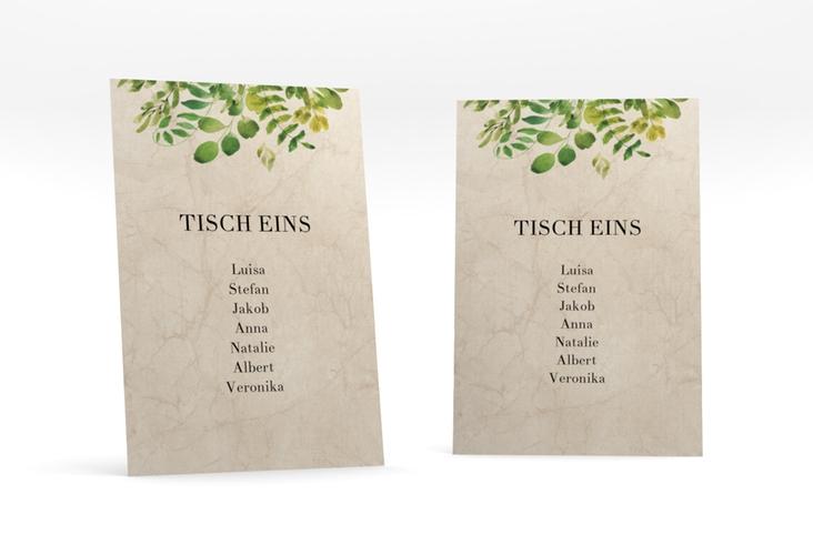 """Tischaufsteller Hochzeit """"Botany"""" Tischaufsteller beige"""