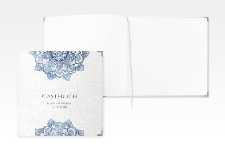 """Gästebuch Selection Hochzeit """"Delight"""" Leinen-Hardcover blau"""
